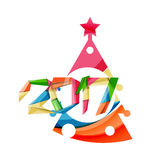 Happy New Year and Christmas holiday greeting card elements. Geometric banner Stock Image