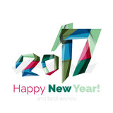 Happy New Year and Christmas holiday greeting card elements. Geometric banner Stock Photos