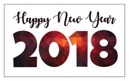 Happy New Year in geometric design numbers Royalty Free Stock Images