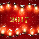 Happy New 2017 Year. Royalty Free Stock Image