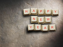 Happy New Year - Christmas made of computer keys, background Royalty Free Stock Photos