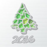 Happy new year 2016, Christmas theme,Christmas tree Stock Photo