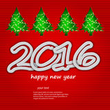 Happy new year 2016, Christmas theme. Happy new year 2016,Christmas creative greeting card design stock illustration