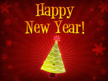 Happy New Year, christmas tree Royalty Free Stock Photos