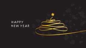 Happy new year. Christmas Tree. Bacgkround Stock Images