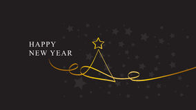 Happy new year. Christmas Tree. Bacgkround Royalty Free Stock Photography