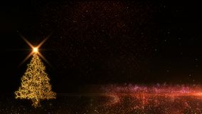 Happy New Year 2019 christmas tree golden light shine particles fireworks background. Happy New Year 2019 christmas tree golden light shine particles fireworks vector illustration
