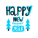 Happy new year 2016 or christmas typography. Poster or invite ca Royalty Free Stock Photos