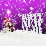 Happy New Year Christmas Winter Snow. Pink Royalty Free Stock Photography