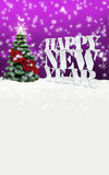 Happy New Year Christmas Winter Snow. Pink Stock Images