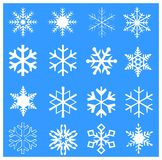 Christmas and New Year seamless blue pattern. Happy New Year! 2018 Christmas. Winter Snow wallpaper. Snowfall. Snowy BLUE light background. Festive snowflakes Royalty Free Stock Photos