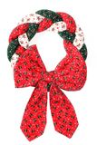 Happy New Year. Christmas wreath on a white background. Postcard stock image
