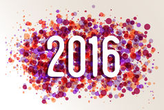 Happy New year 2016 circle color splash background Royalty Free Stock Images