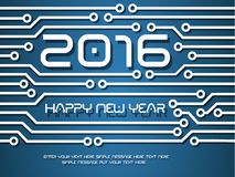 2016 happy new year circuit. And merry christmas Royalty Free Stock Images