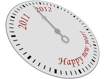 Happy New Year Clock. Clock with Happy New Year written on it stock illustration