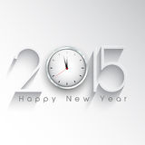 Happy New Year clock background. Happy New Year background with a clock design royalty free illustration