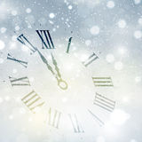 Happy New Year clock background Stock Image
