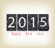 Happy New Year 2015 clock design. Happy new year background and greeting card design Royalty Free Stock Photography