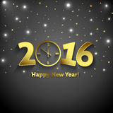 2016 Happy New Year  with clock Stock Photo