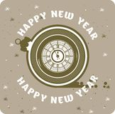 Happy New Year Clock Royalty Free Stock Photo