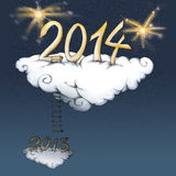 Happy new year cloud Royalty Free Stock Photography