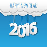 Happy new year 2016 cloud and sky background .Vector/illustratio. N Stock Photos