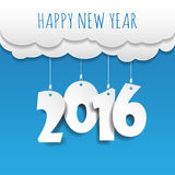 Happy new year 2016 cloud and sky background .Vector/illustratio. N Royalty Free Stock Photos