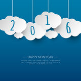 Happy new year 2016 cloud and sky background  Royalty Free Stock Photos