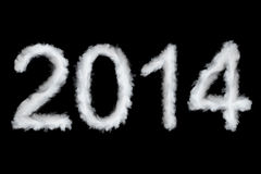 Happy New Year 2014. Cloud style text Royalty Free Stock Photo