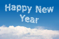 Happy New Year Cloud Text Royalty Free Stock Images