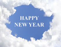 Happy New Year Clouds Royalty Free Stock Photo