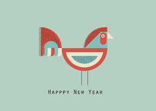 Happy new year cock. 2017 happy new year greeting card, vector bacground,creative cock Vector Illustration