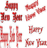 Happy New Year Collage Stock Image