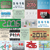 2016 happy new year collections Royalty Free Stock Photos