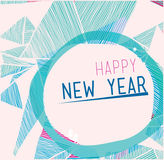 Happy new year of 2014. Happy new year on color abstract background vector illustration