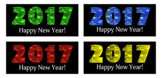 2017 Happy New Year. Color background. Vector. Illustration Stock Photography