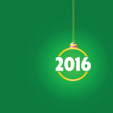 Happy new year 2016 color ball vector. Happy new year 2016 color ball green vector Royalty Free Stock Photos
