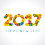 2017 happy new year color numbers Stock Images