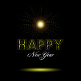 Happy new year. Colored happy new year background, Vector illustration Royalty Free Stock Photos