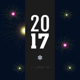 Happy new year. Colored happy new year background, Vector illustration Stock Photos