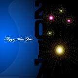 Happy new year. Colored happy new year background, Vector illustration Royalty Free Stock Images
