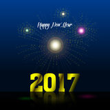 Happy new year. Colored happy new year background, Vector illustration Stock Photography
