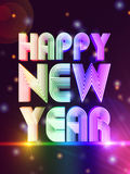 Happy new year in colored figures Stock Photography