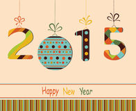 Happy New Year 2015. Happy New Year 2015 colored  greeting card Stock Photos