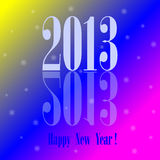 Happy New Year colorful background Royalty Free Stock Images