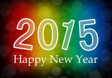 2015 Happy New Year. With colorful background stock illustration