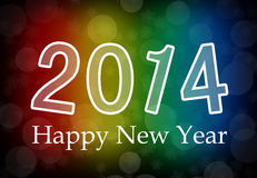 2014 Happy New Year. With colorful background Royalty Free Stock Images