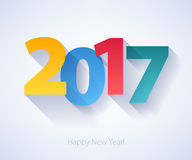 Happy New Year 2017 colorful background. Stock Photography