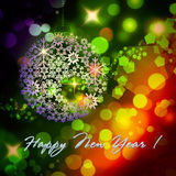 Happy New Year colorful background. Happy New Year design colorful background for greeting card stock illustration