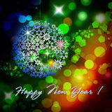 Happy New Year colorful background. Happy New Year design colorful background for greeting card royalty free illustration
